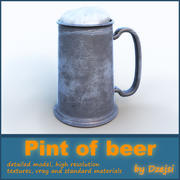 Pint of beer 3d model