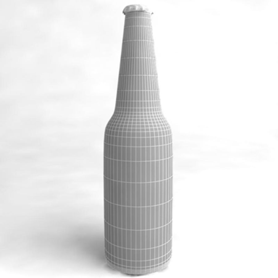 Beer Bottle 3 royalty-free 3d model - Preview no. 4