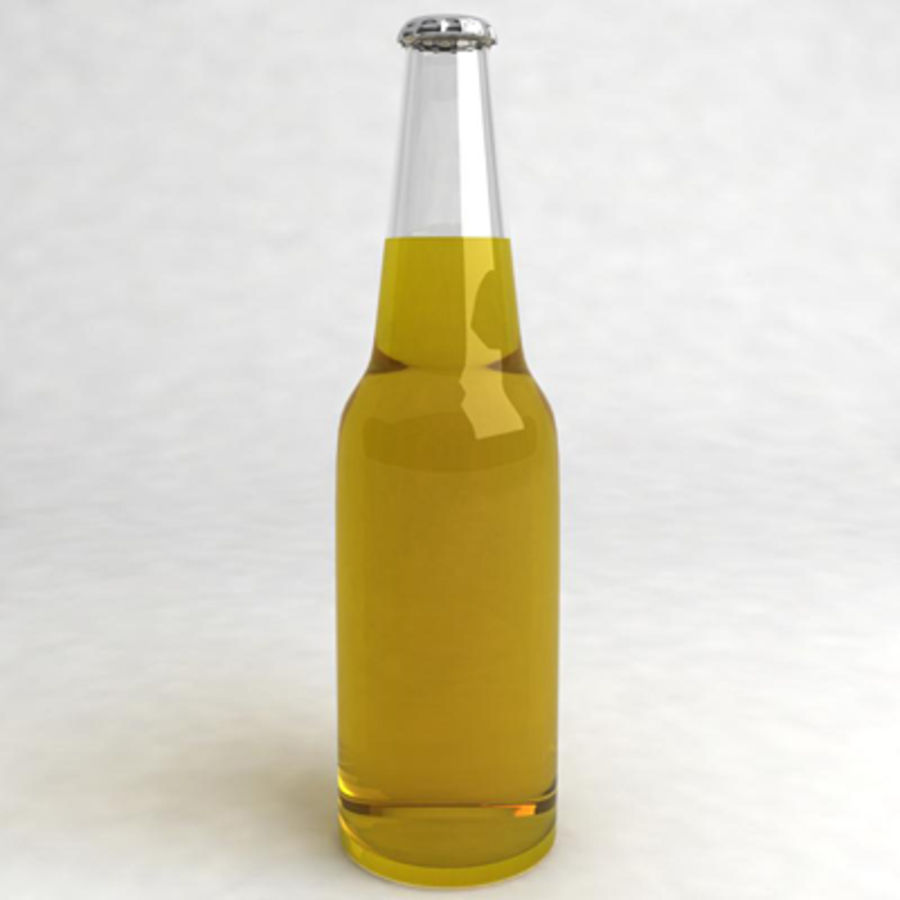 Beer Bottle 3 royalty-free 3d model - Preview no. 3