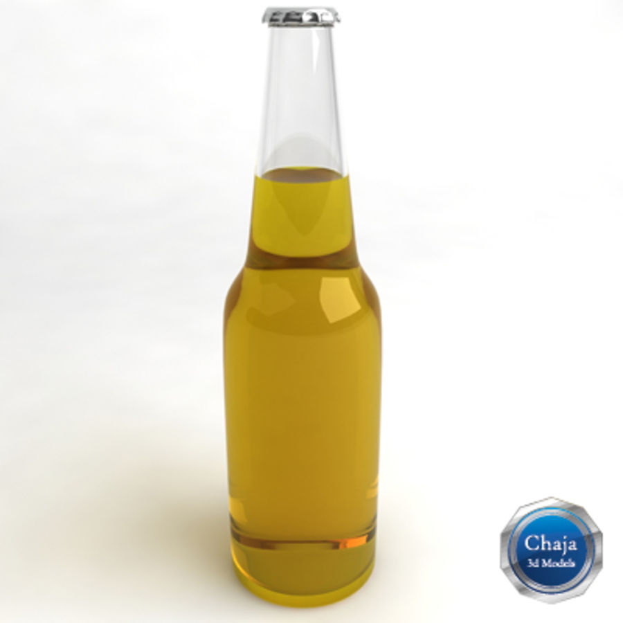 Beer Bottle 3 royalty-free 3d model - Preview no. 1