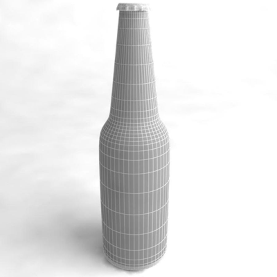 Beer Bottle 3 royalty-free 3d model - Preview no. 6