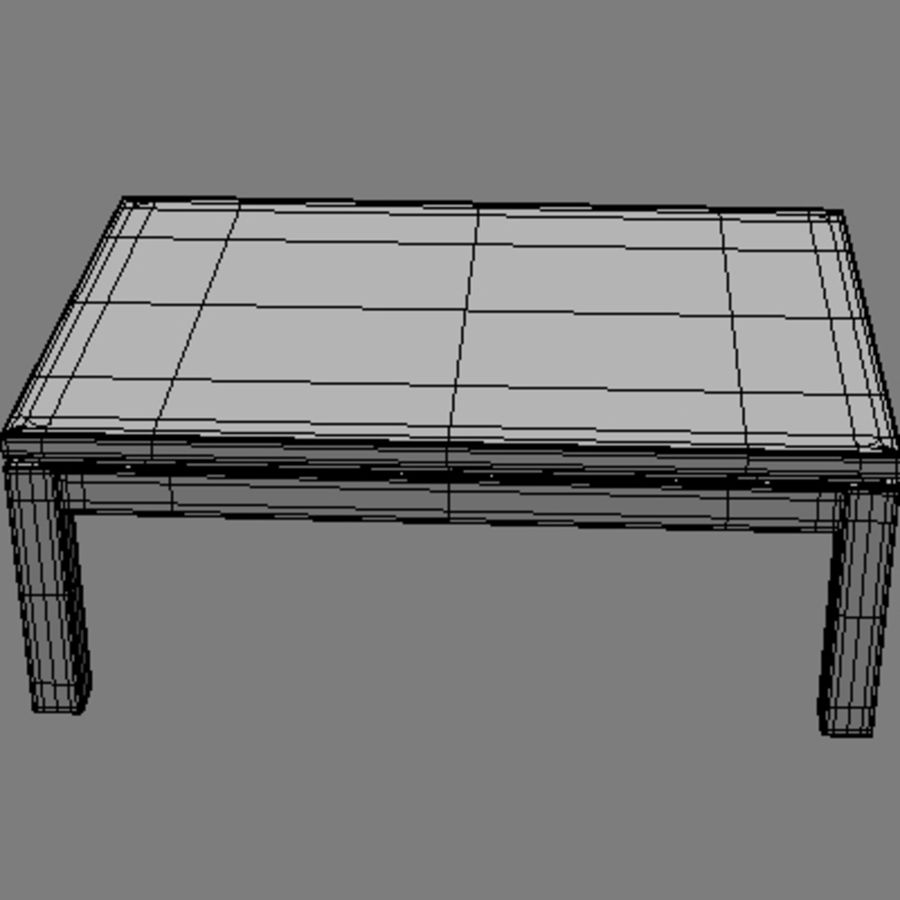 Tea table royalty-free 3d model - Preview no. 15
