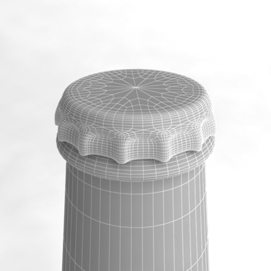 Beer Bottle 4 royalty-free 3d model - Preview no. 6