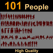 Human Silhouettes for rendering 3d model
