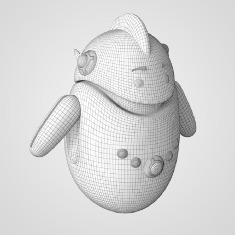 Robot - Android royalty-free 3d model - Preview no. 9