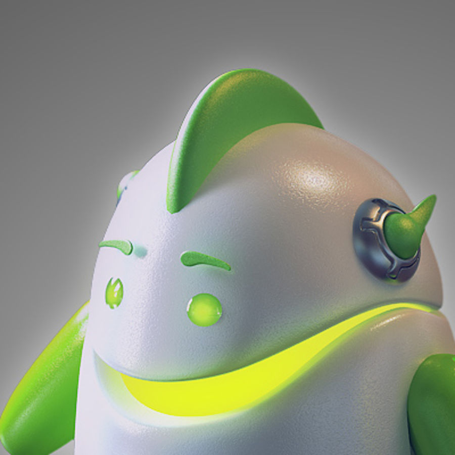 Robot - Android royalty-free 3d model - Preview no. 1