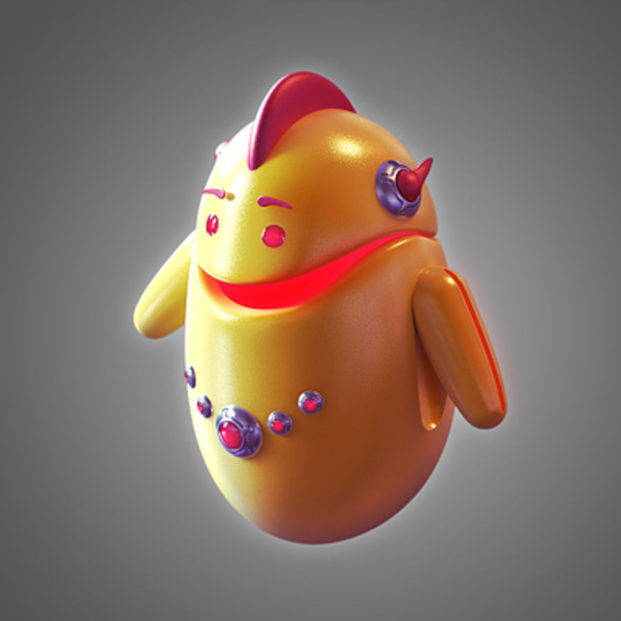 Robot - Android royalty-free 3d model - Preview no. 3
