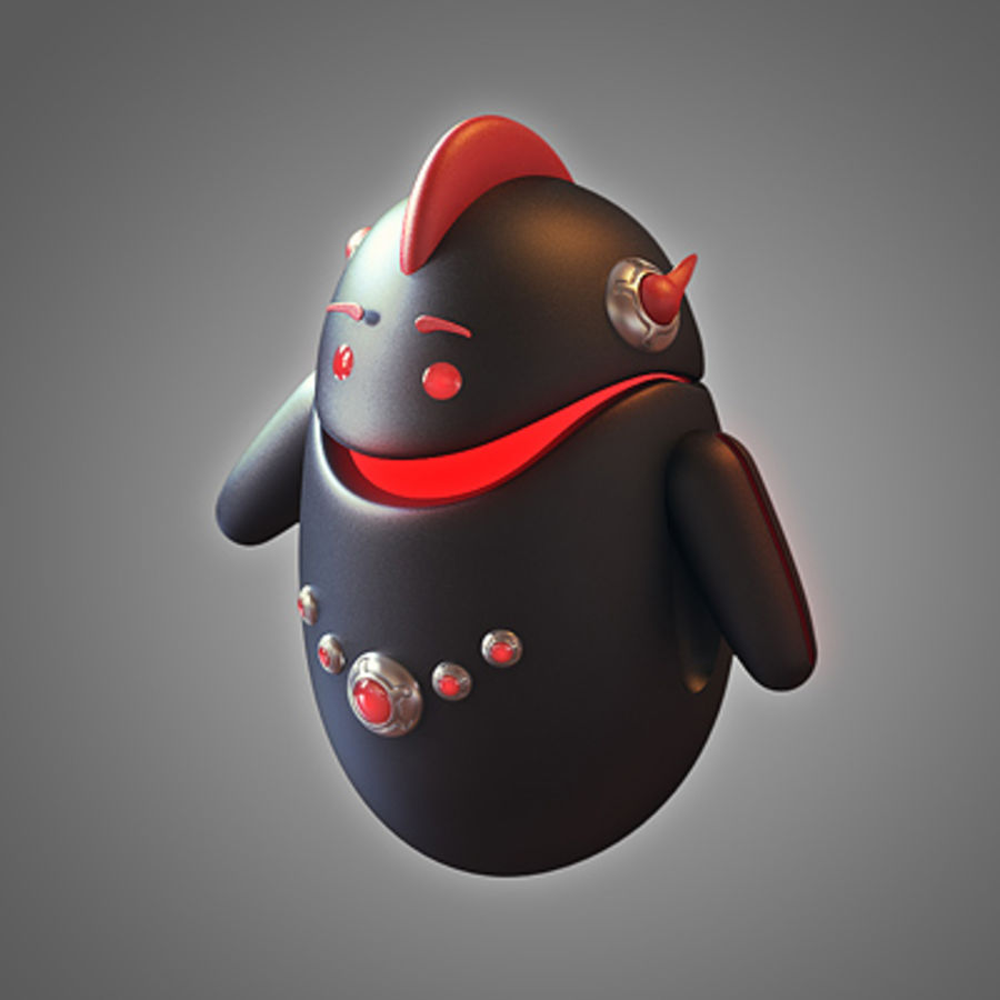 Robot - Android royalty-free 3d model - Preview no. 5