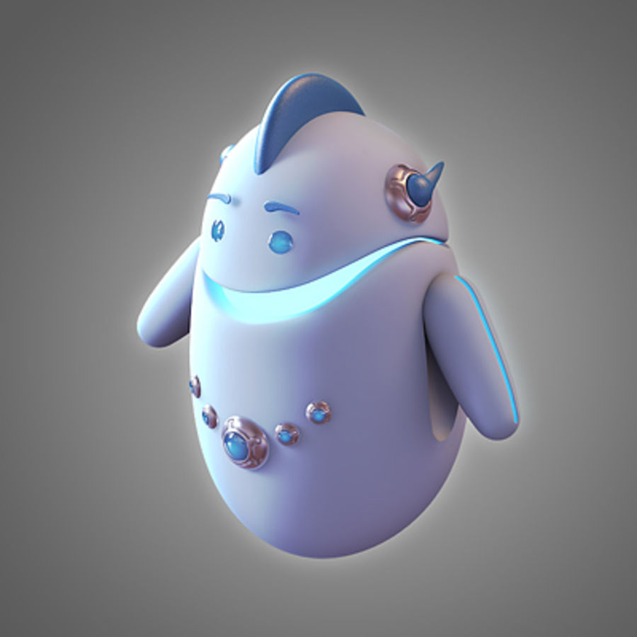 Robot - Android royalty-free 3d model - Preview no. 4