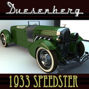 VINTAGE CAR DUESENBERG 1933 SPEEDSTER 3d model