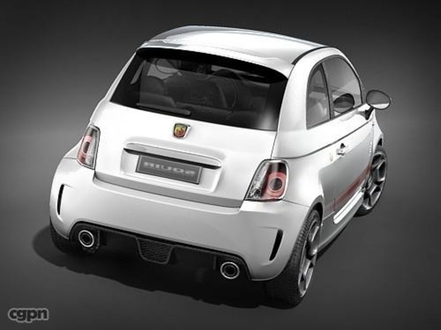 fiat 500 abarth royalty-free 3d model - Preview no. 7