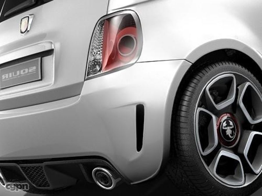 fiat 500 abarth royalty-free 3d model - Preview no. 8