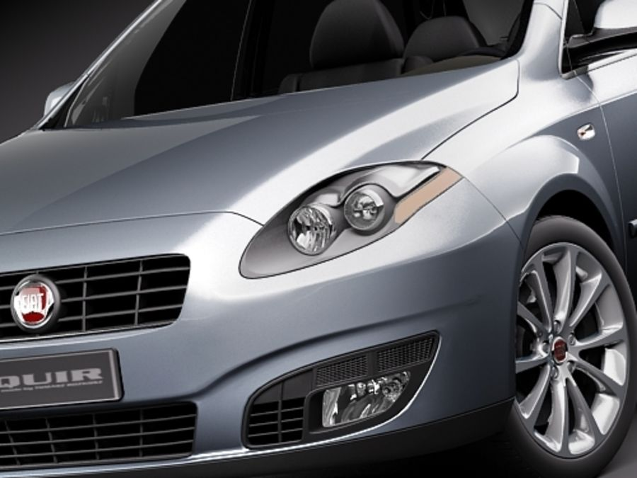 fiat croma 2008 royalty-free 3d model - Preview no. 3