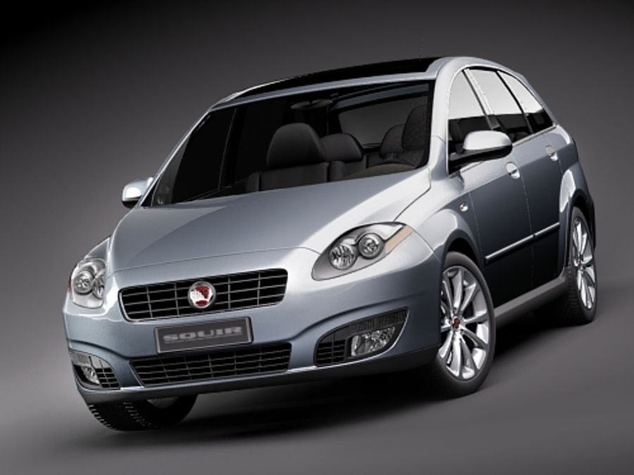 fiat croma 2008 royalty-free 3d model - Preview no. 2