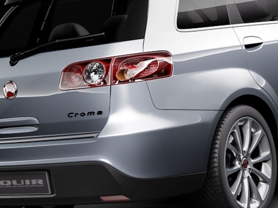 fiat croma 2008 royalty-free 3d model - Preview no. 4