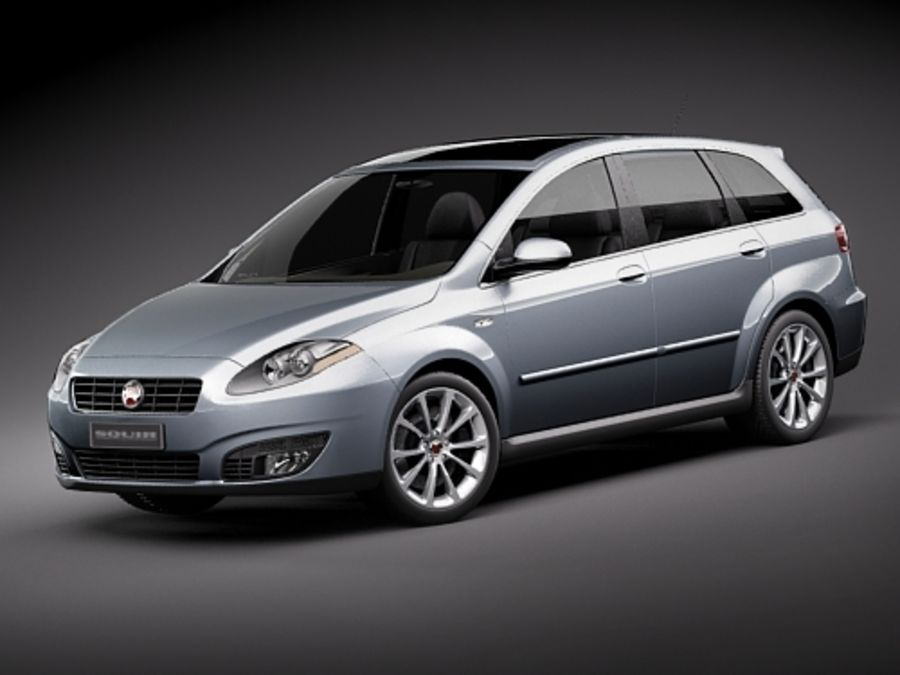 fiat croma 2008 royalty-free 3d model - Preview no. 1