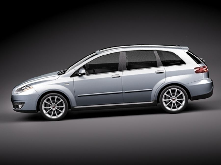 fiat croma 2008 royalty-free 3d model - Preview no. 7