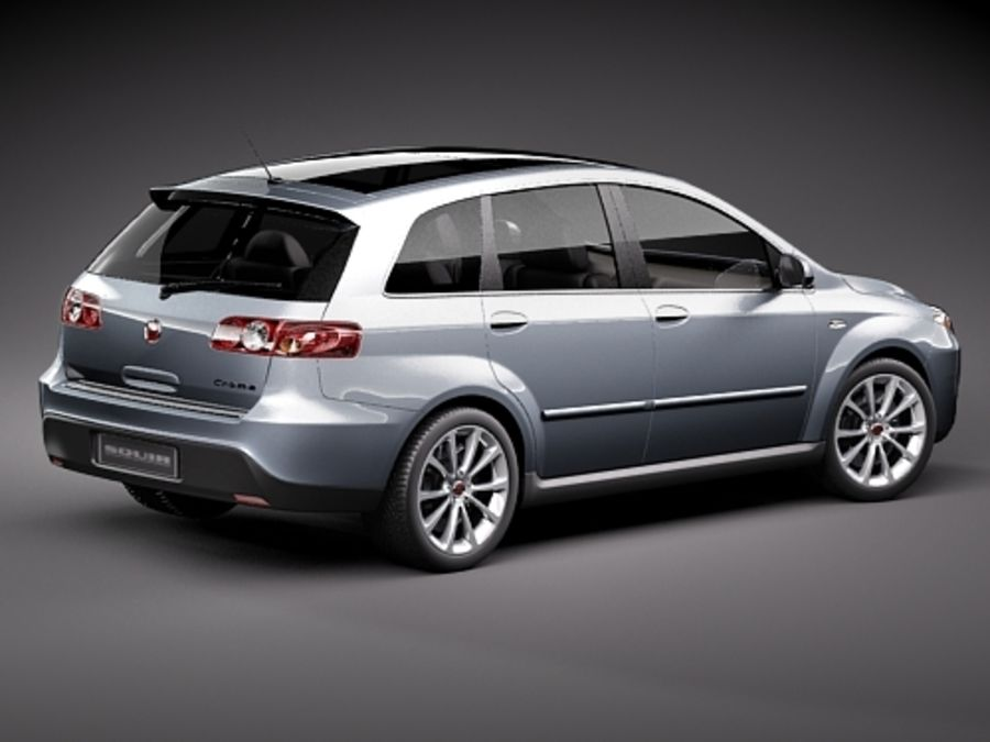 fiat croma 2008 royalty-free 3d model - Preview no. 5
