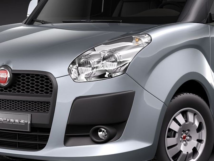 Fiat Doblo 2010 royalty-free 3d model - Preview no. 3