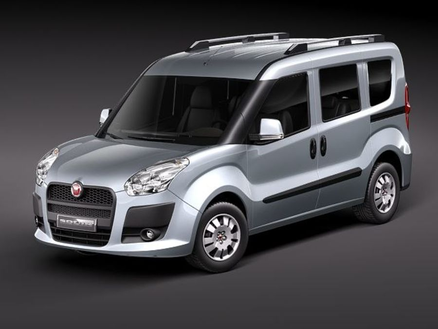 Fiat Doblo 2010 royalty-free 3d model - Preview no. 1