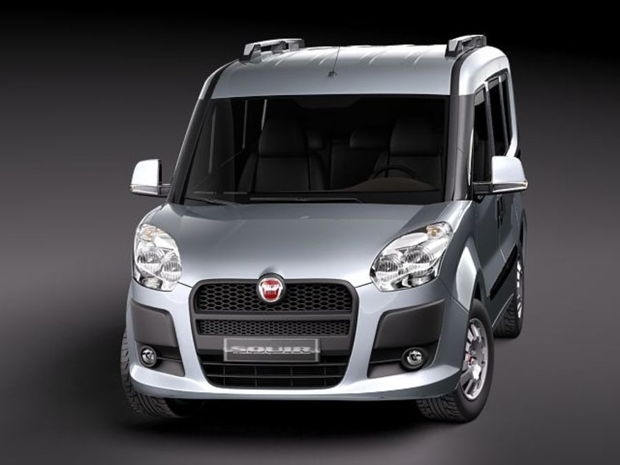 Fiat Doblo 2010 royalty-free 3d model - Preview no. 2