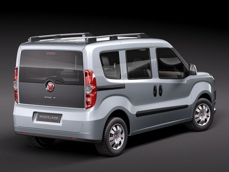 Fiat Doblo 2010 royalty-free 3d model - Preview no. 5