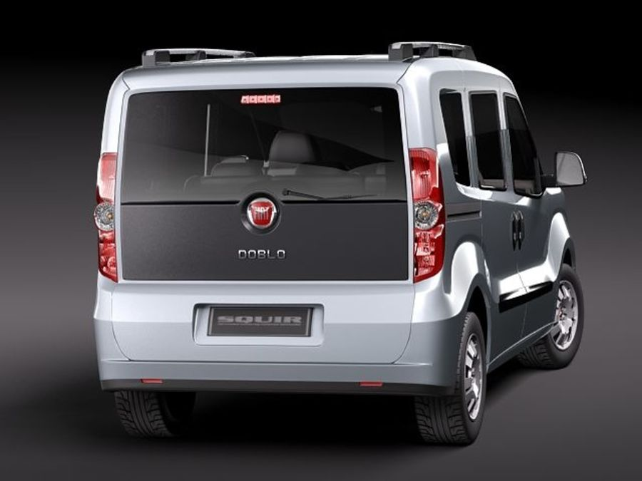 Fiat Doblo 2010 royalty-free 3d model - Preview no. 6