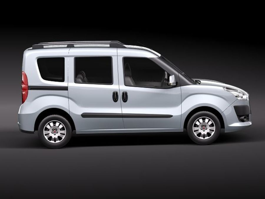 Fiat Doblo 2010 royalty-free 3d model - Preview no. 7