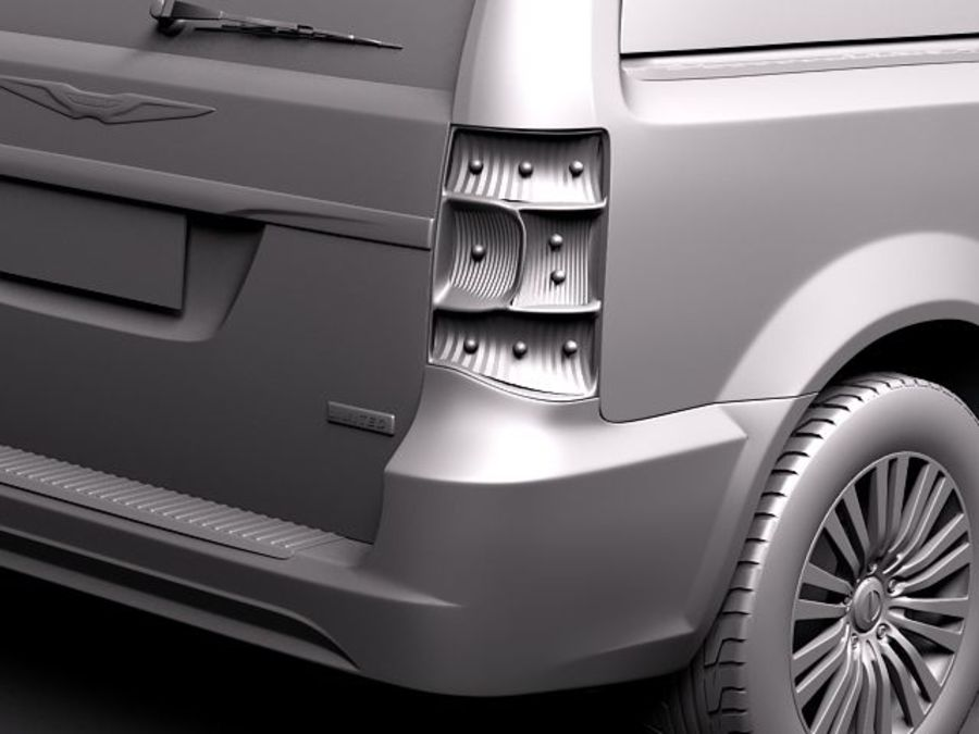 Chrysler Town And Land 2011 royalty-free 3d model - Preview no. 10
