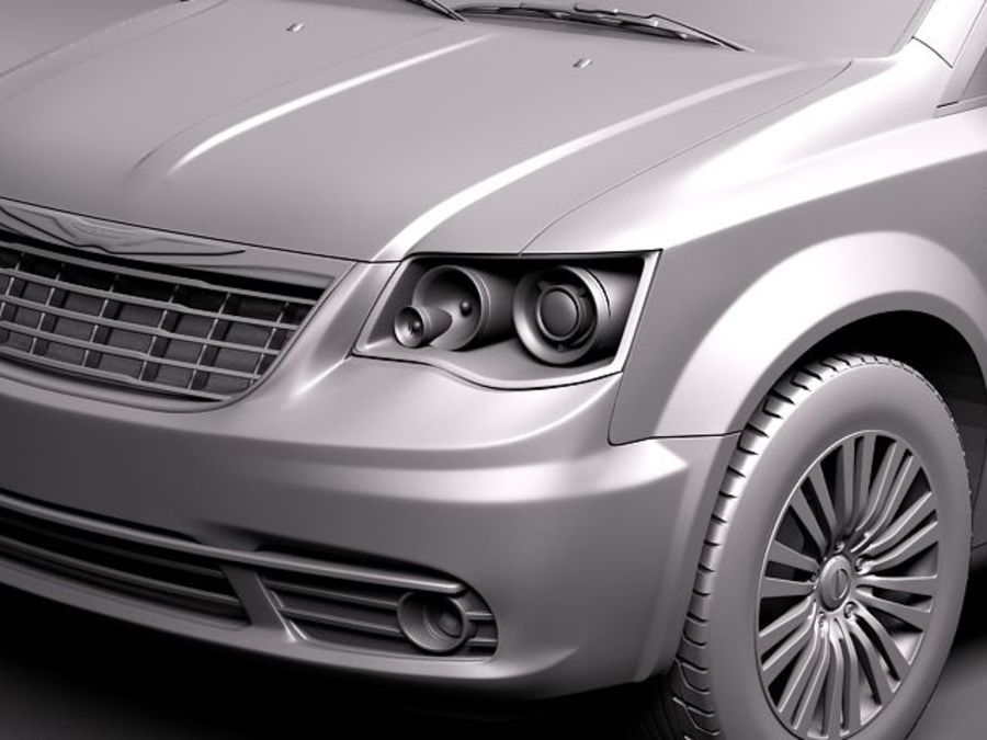 Chrysler Town And Land 2011 royalty-free 3d model - Preview no. 11