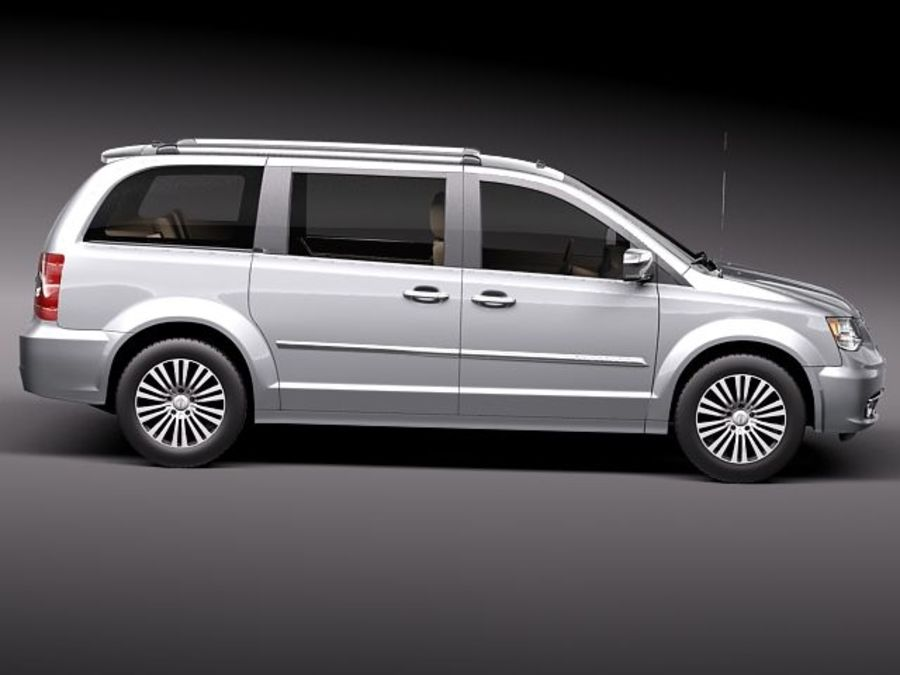 Chrysler Town And Land 2011 royalty-free 3d model - Preview no. 7
