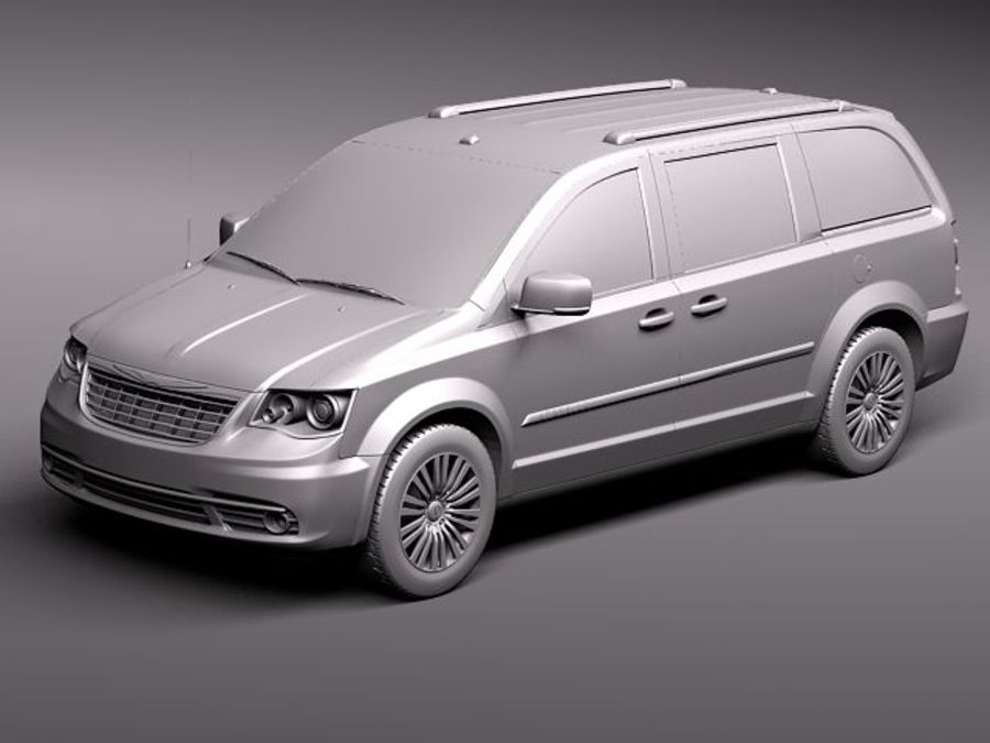 Chrysler Town And Land 2011 royalty-free 3d model - Preview no. 12