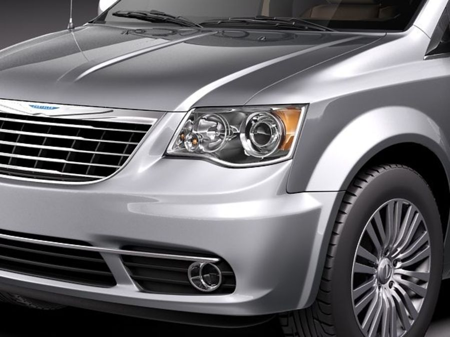Chrysler Town And Land 2011 royalty-free 3d model - Preview no. 3