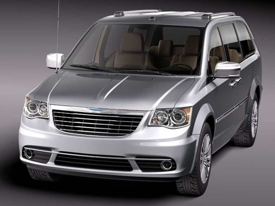 Chrysler Town And Land 2011 royalty-free 3d model - Preview no. 2