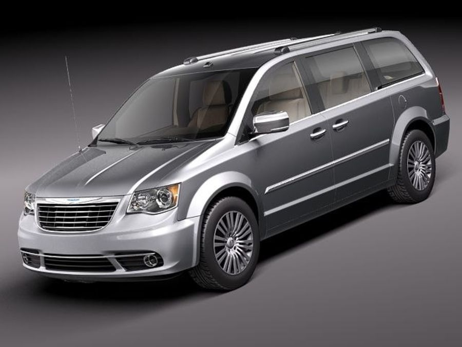 Chrysler Town And Land 2011 royalty-free 3d model - Preview no. 1