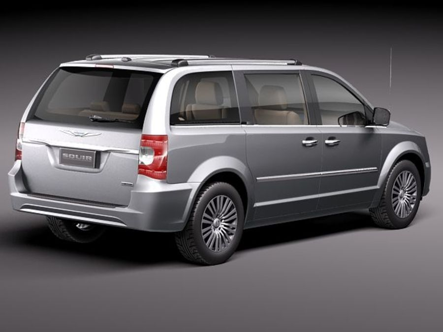 Chrysler Town And Land 2011 royalty-free 3d model - Preview no. 5