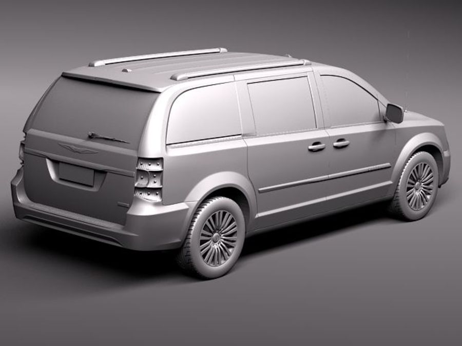 Chrysler Town And Land 2011 royalty-free 3d model - Preview no. 9
