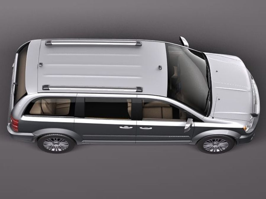 Chrysler Town And Land 2011 royalty-free 3d model - Preview no. 8