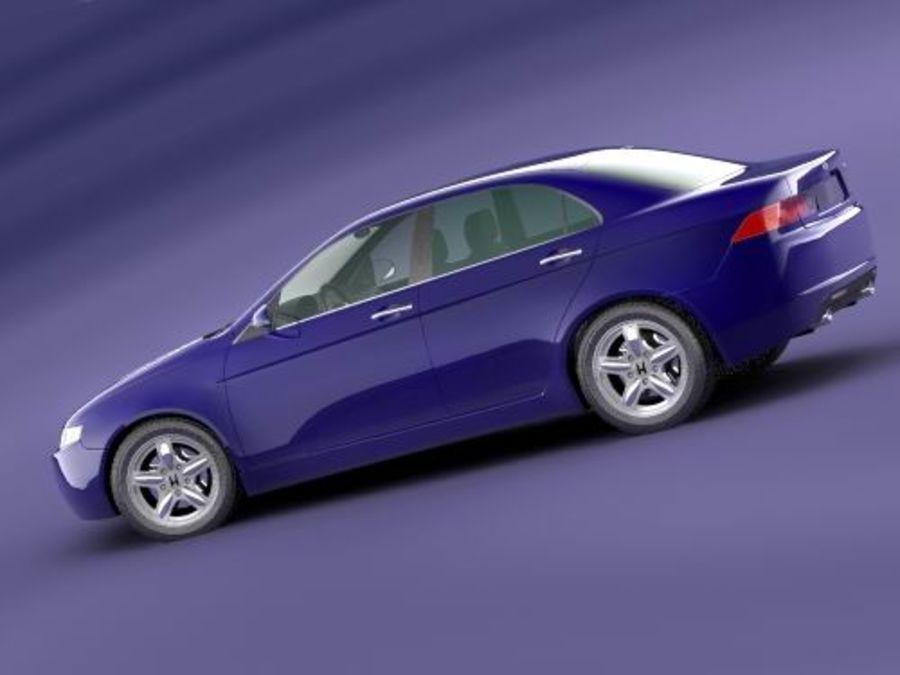 Honda Accord 2004 royalty-free 3d model - Preview no. 5