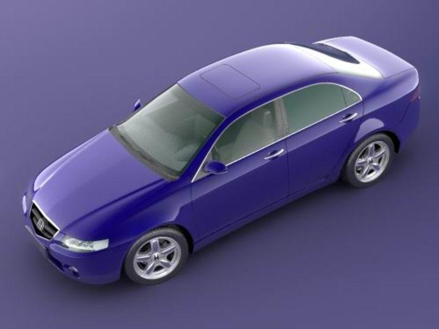 Honda Accord 2004 royalty-free 3d model - Preview no. 3