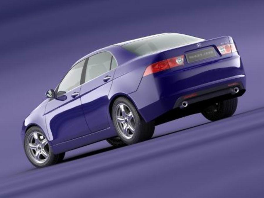 Honda Accord 2004 royalty-free 3d model - Preview no. 2