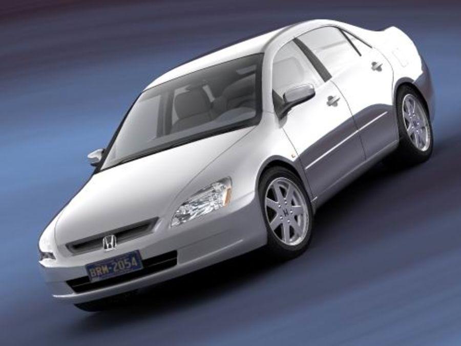 Honda Accord USA 2003 royalty-free 3d model - Preview no. 2