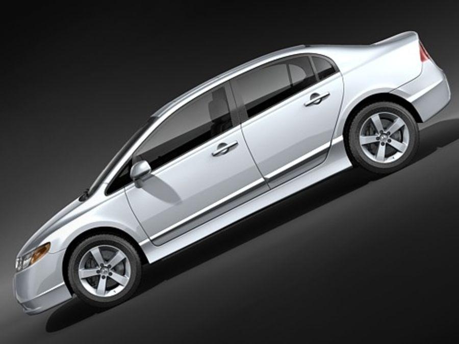 혼다 시빅 세단 2007-2010 royalty-free 3d model - Preview no. 7