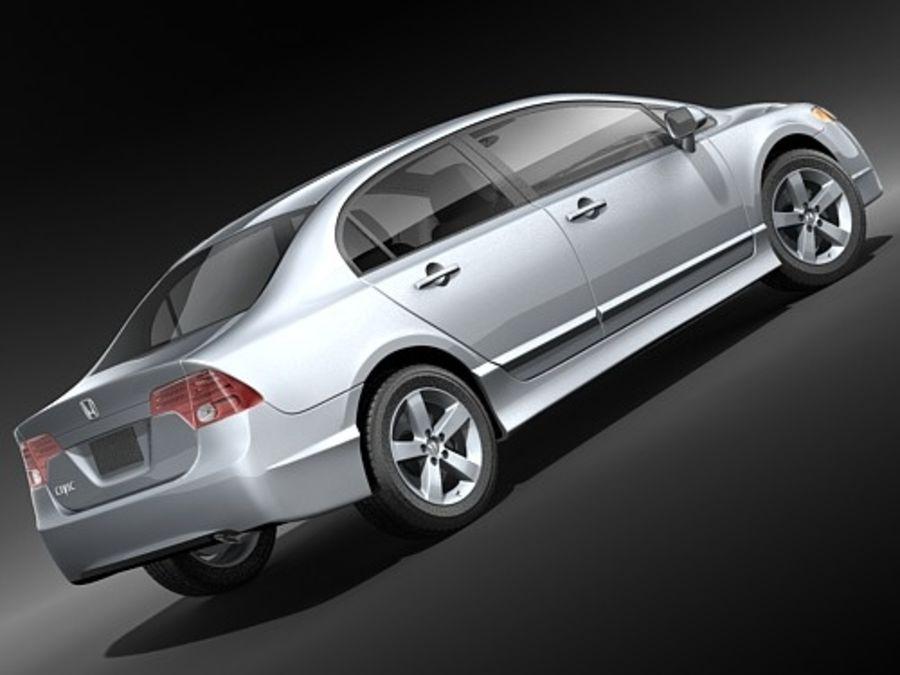 혼다 시빅 세단 2007-2010 royalty-free 3d model - Preview no. 5