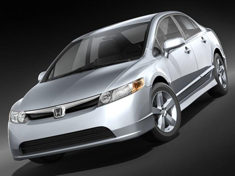 혼다 시빅 세단 2007-2010 royalty-free 3d model - Preview no. 2