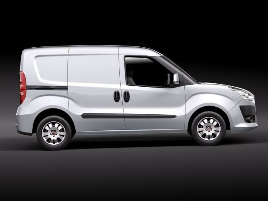 fiat doblo cargo 2010 royalty-free 3d model - Preview no. 7