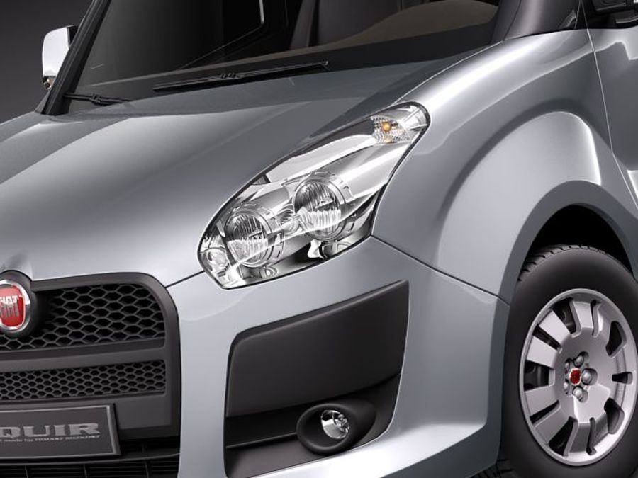 fiat doblo cargo 2010 royalty-free 3d model - Preview no. 3