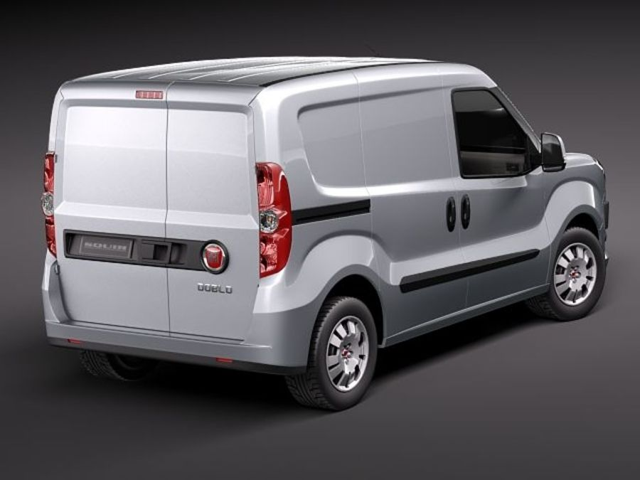 fiat doblo cargo 2010 royalty-free 3d model - Preview no. 5