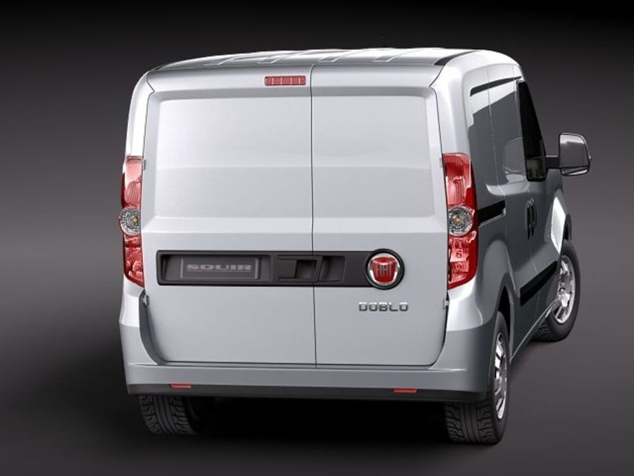 fiat doblo cargo 2010 royalty-free 3d model - Preview no. 6