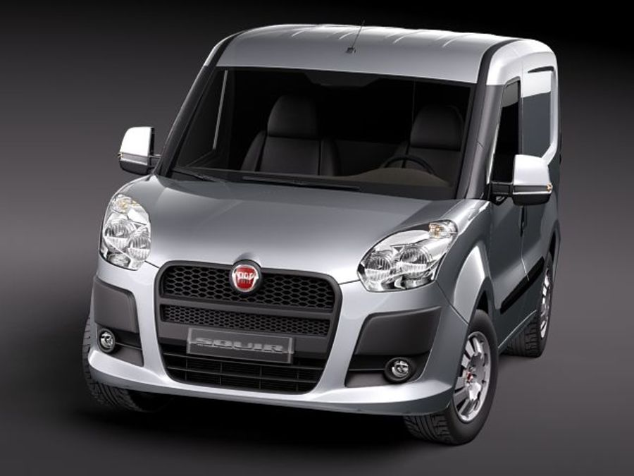 fiat doblo cargo 2010 royalty-free 3d model - Preview no. 2